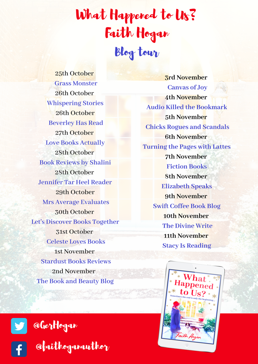 BLOG TOUR: 'What Happened To Us?' by Faith Hogan – Swift Coffee